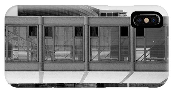 Architectural Pattern Glass Bridge Black White IPhone Case