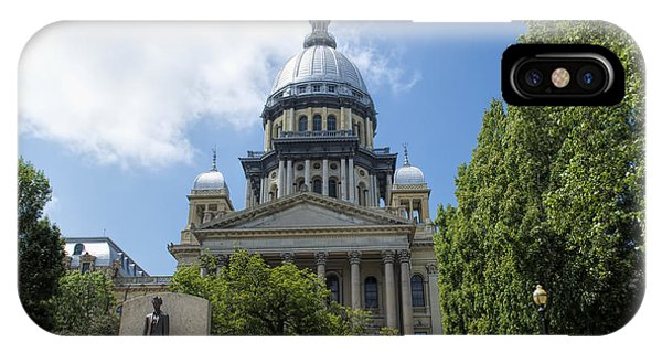 Illinois State Capitol  - Luther Fine Art IPhone Case