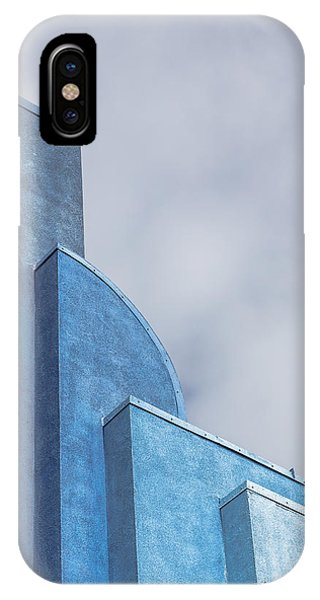 IPhone Case featuring the photograph Architecture In Blue by Susan Leonard