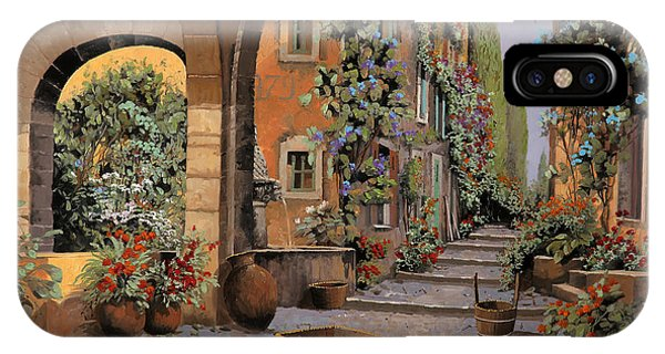 Basket iPhone Case - Arco E Arcata by Guido Borelli