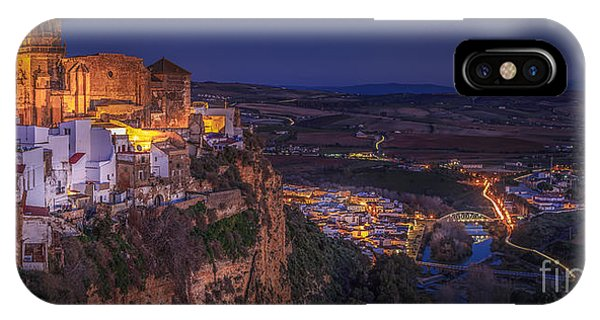 Arcos De La Frontera Panorama From Balcon De La Pena Cadiz Spain IPhone Case