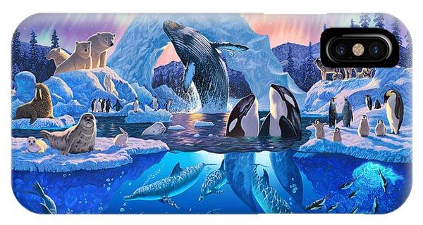 Whale iPhone Case - Arctic Harmony by Chris Heitt