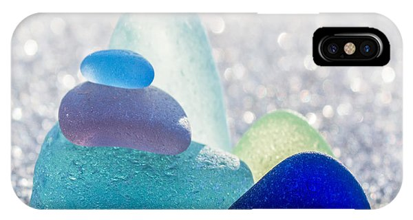 Frost Glass iPhone Case - Arctic Peaks by Barbara McMahon