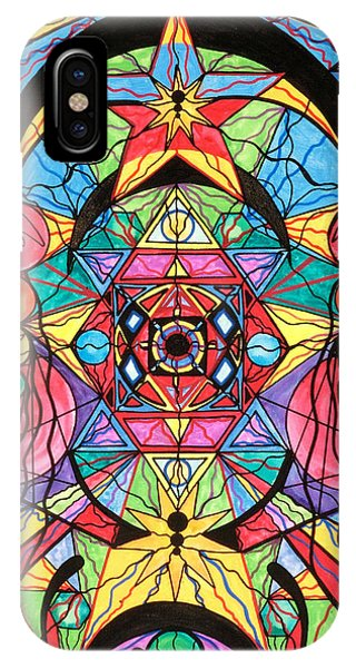 Grid iPhone Case - Arcturian Ascension Grid by Teal Eye  Print Store