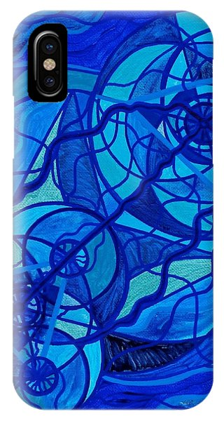 T Shirts iPhone X Case - Arcturian Calming Grid by Teal Eye Print Store