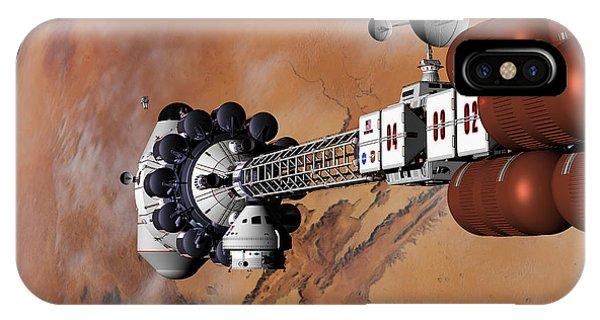 Ares1 Captured Over Valles Marineris IPhone Case