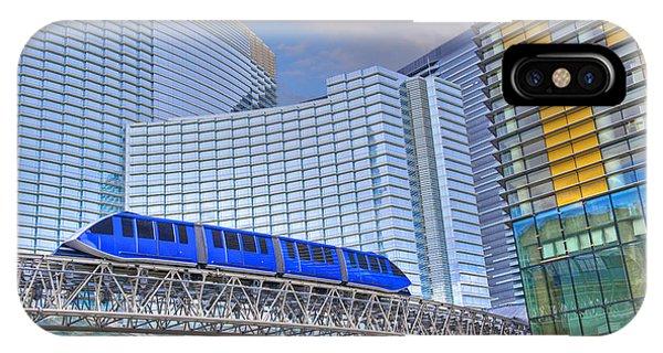 Aria Las Vegas Nevada Hotel And Casino Tram  IPhone Case