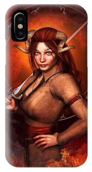 Aries Fantasy Zodiac Edition IPhone Case
