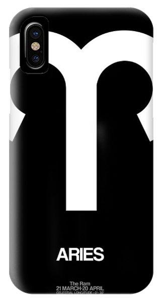 Aries Zodiac Sign White IPhone Case