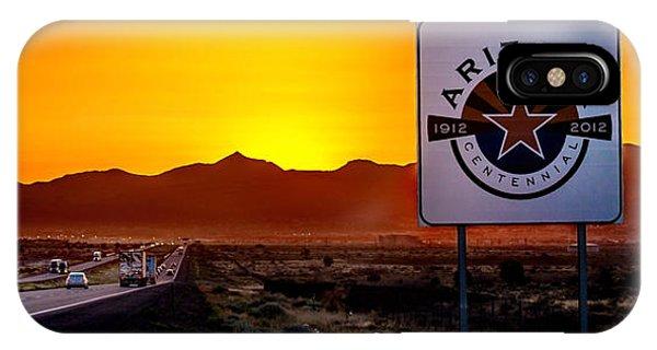 Truck iPhone X Case - Arizona Centennial by Az Jackson