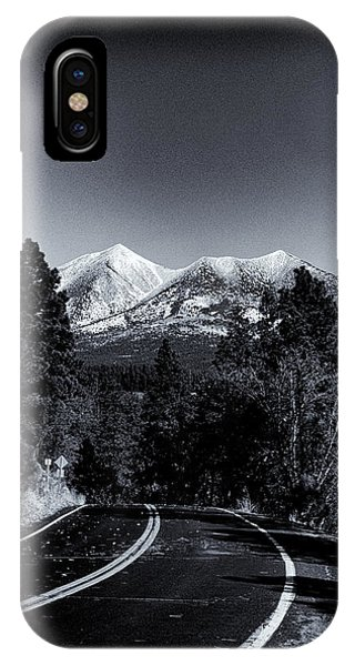 Arizona Country Road In Black And White IPhone Case