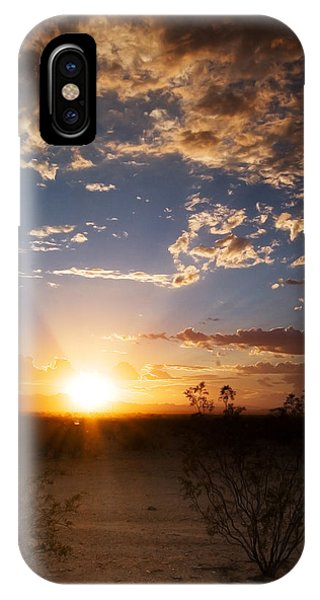 IPhone Case featuring the photograph Arizona Desert Sunset by Brad Brizek
