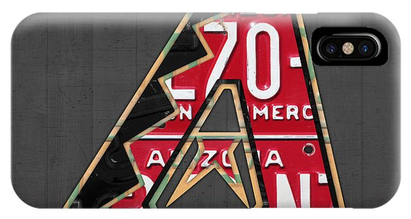 Arizona Diamondbacks Baseball Team Vintage Logo Recycled License Plate Art IPhone Case