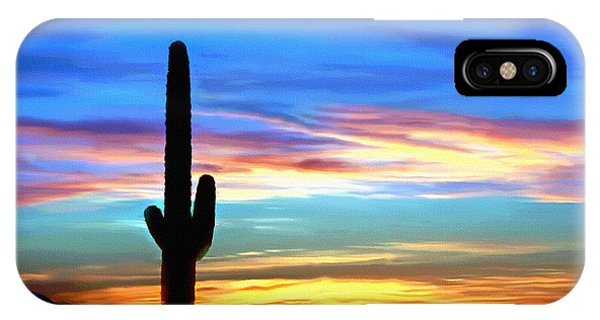 Arizona Sunset Saguaro National Park IPhone Case
