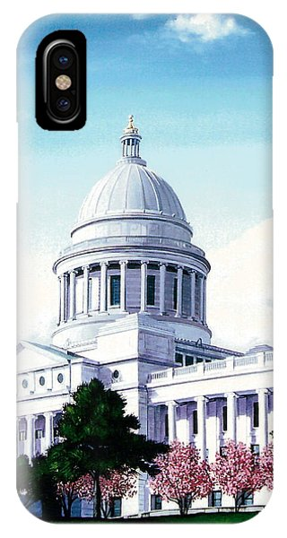 Arkansas Capitol Blossoms IPhone Case