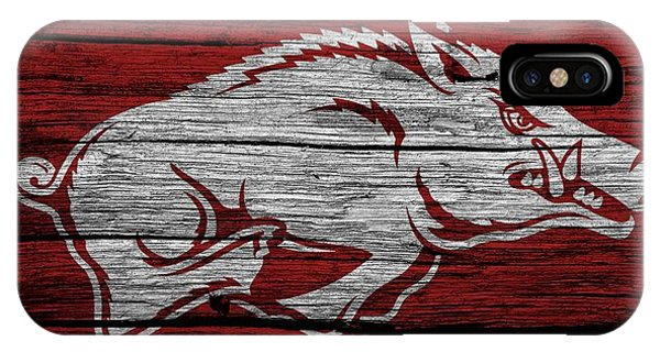 Arkansas Razorbacks On Wood IPhone Case