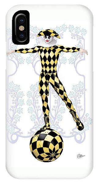 Arte iPhone Case - Harlequin Tightrope by Quim Abella