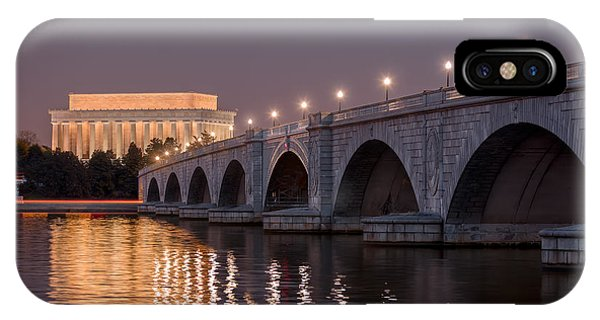 Lincoln Memorial iPhone Case - Arlington Memorial Bridge by Eduard Moldoveanu