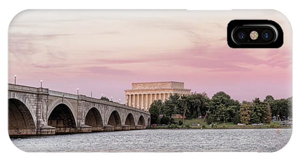 Lincoln Memorial iPhone Case - Arlington Memorial Bridge With Lincoln by Panoramic Images