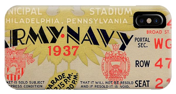 Naval Academy iPhone Case - Army Navy 1937 by Benjamin Yeager