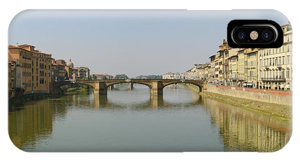 Arno River Panorama IPhone Case