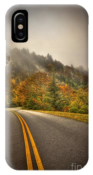 Around The Bend Clouds Along The Blue Ridge Parkway IPhone Case