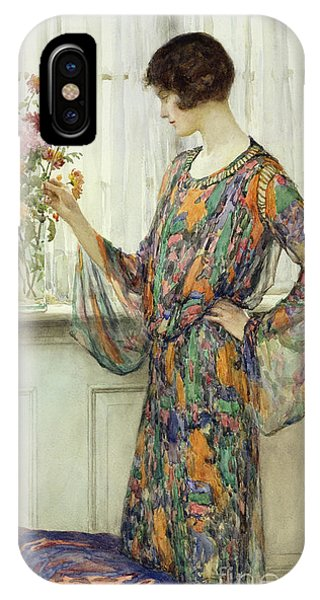 Elegant iPhone Case - Arranging Flowers by William Henry Margetson