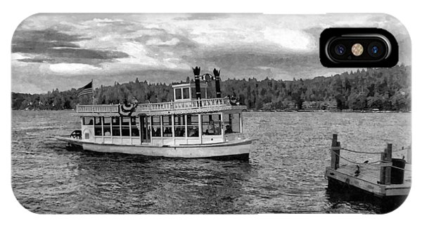 Art And Craft iPhone Case - Arrowhead Queen Paddlewheel Boat by Glenn McCarthy Art and Photography
