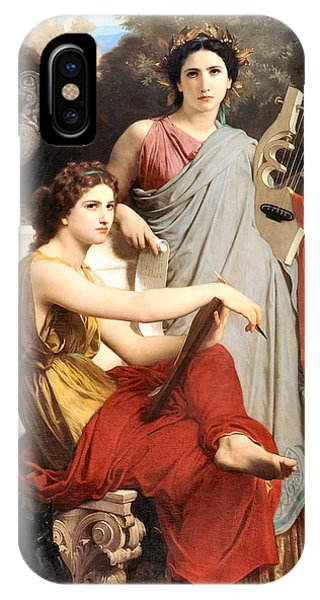 Harp iPhone Case - Art And Literature by William Bouguereau