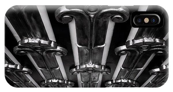 Art Deco At The Henry Fonda Bw IPhone Case