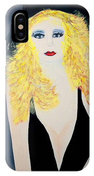 Art Deco Girl With Black Hat IPhone Case