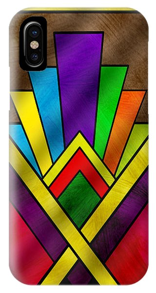 Art Deco Pattern 7v IPhone Case