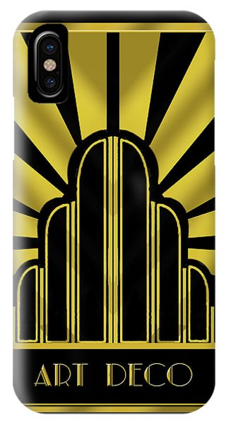 Art Deco Poster - Title IPhone Case