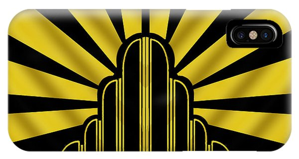 Art Deco Poster - Two IPhone Case