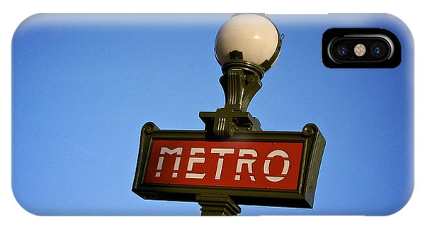 Paris Metro iPhone Case - Art Deco Subway Entrance Sign. Paris by Bernard Jaubert