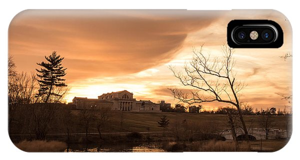 Art Hill Winter Sunset IPhone Case