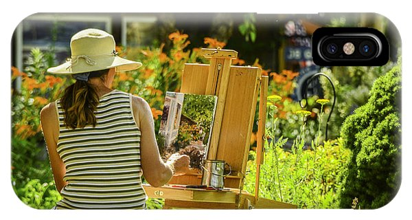 Art In The Garden IPhone Case