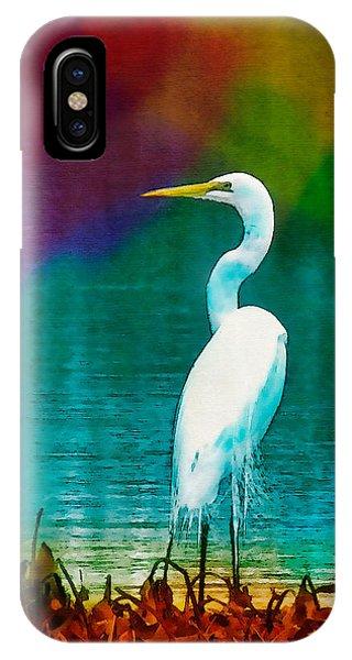 Art Of The Egret IPhone Case