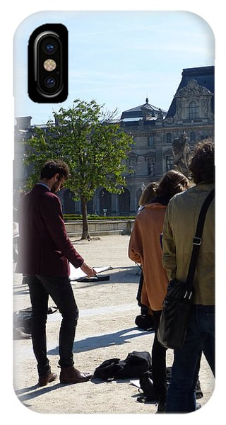 Art Students In The Tuileries Of Paris IPhone Case