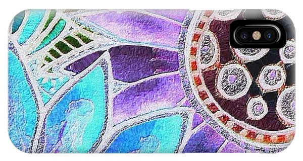 Flower iPhone Case - #art# #watercolor #digitalart #altered by Robin Mead