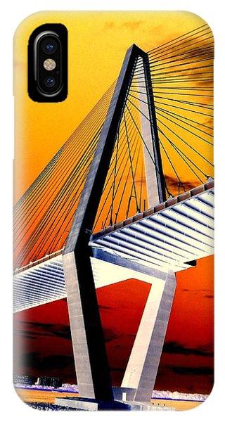 Arthur Ravenel Bridge 18 Phone Case by Ron Kandt