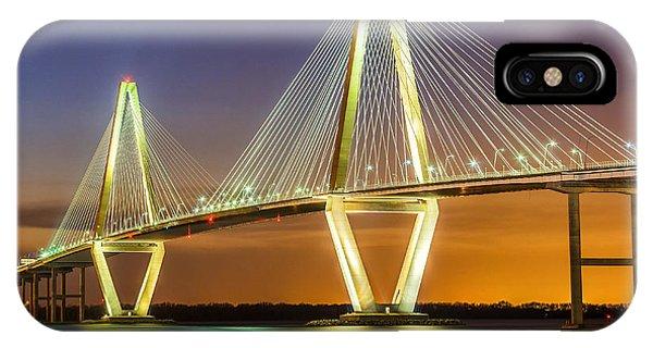 Arthur Ravenel Bridge Twilight IPhone Case
