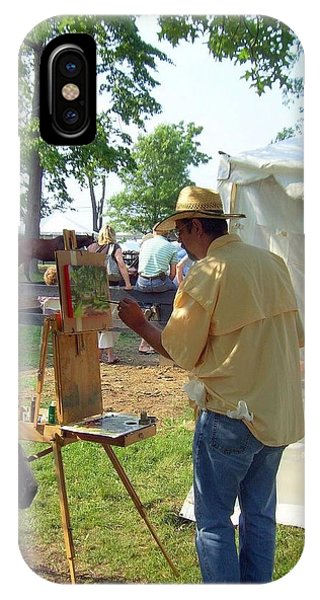 Artist At Upperville IPhone Case
