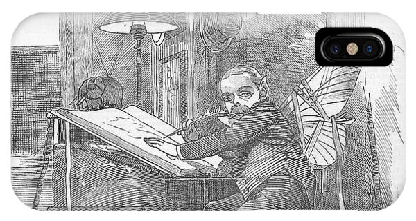 Artist At Work Editorial Art IPhone Case