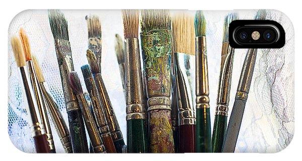 Artist Paintbrushes IPhone Case