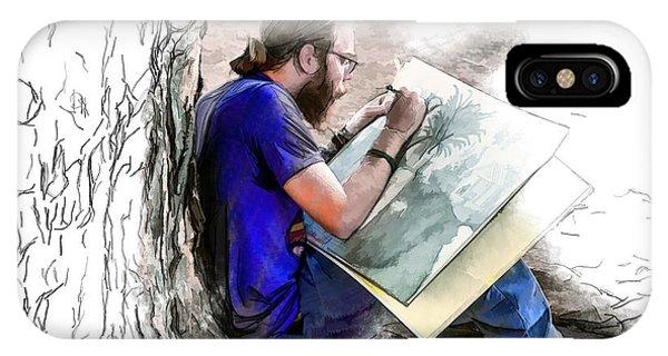 Artist Under A Tree IPhone Case