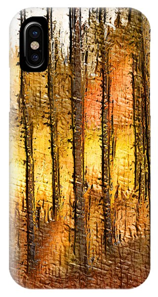 Artistic Fall Forest Abstract IPhone Case