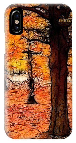 Artistic Fall Trees IPhone Case