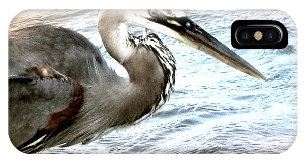 Artistic Great Blue Heron IPhone Case
