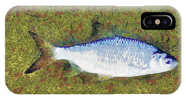 Artistically Painted Fish Phone Case by Odon Czintos